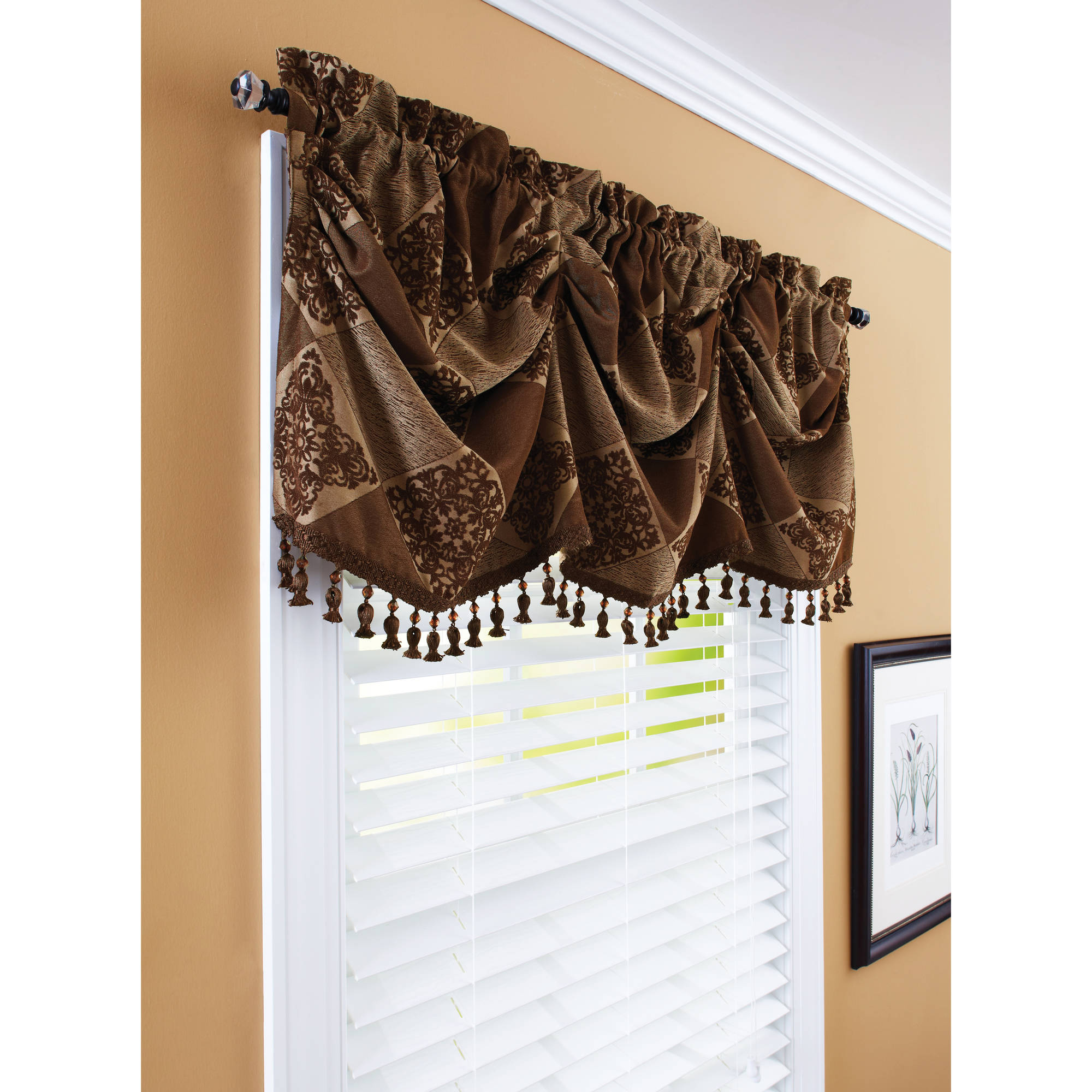 Solitaire Embroidered Scalloped Valance With Cording 52