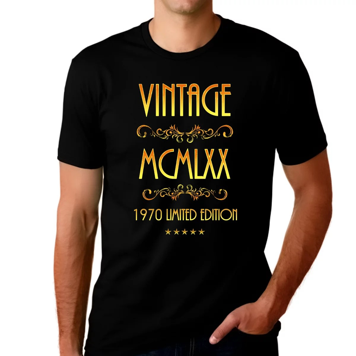 Herrenmode 50th Birthday Gifts Presents Year 1970 Mens Ringer Vintage T Shirt Matured To Eurodite