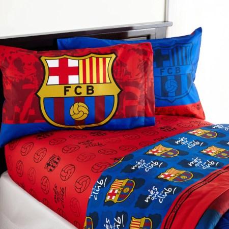 Barcelona Fcb Soccer Bedding Sheet Set