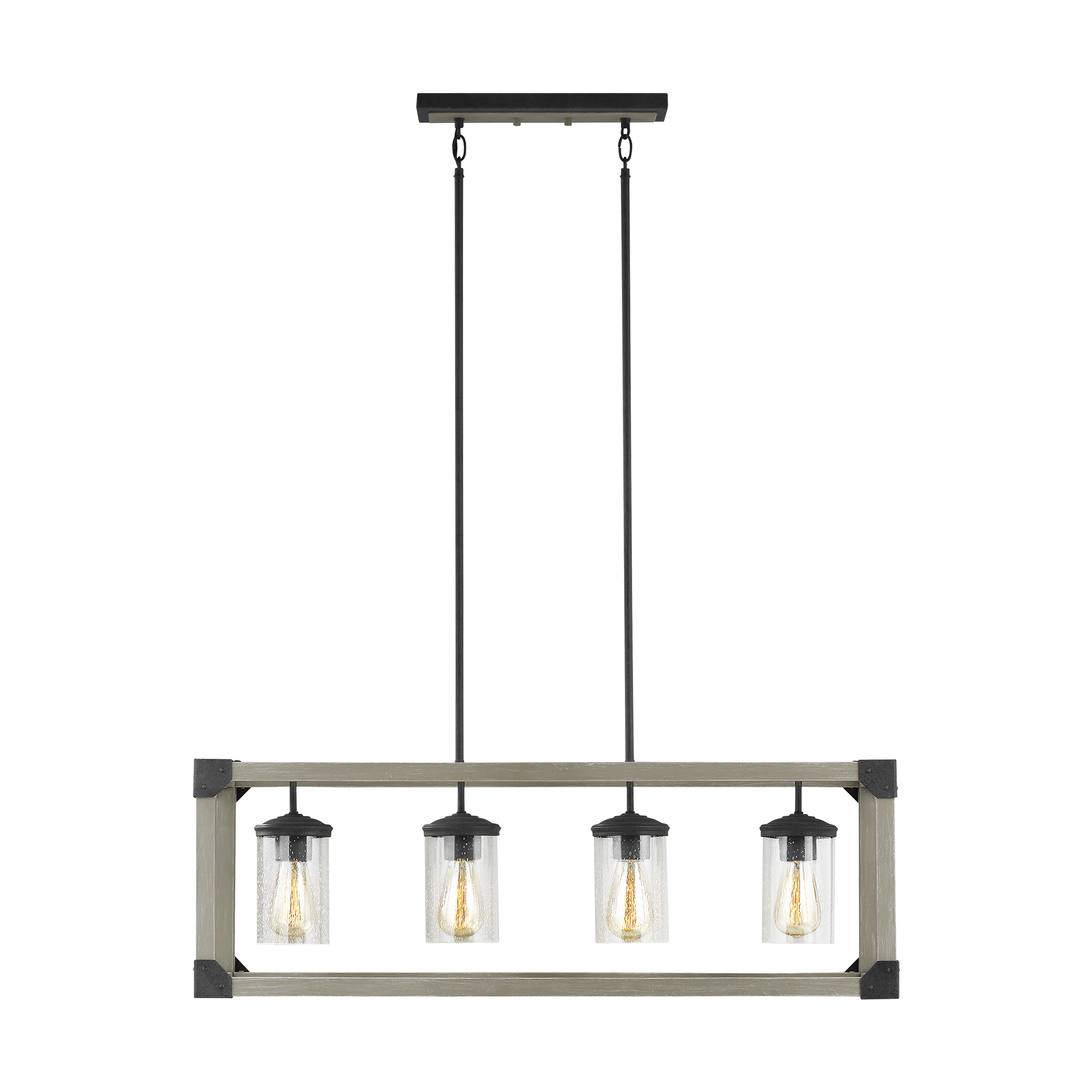 newhouse lighting four light island pendant hanging modern light fixture driftwood gray finish