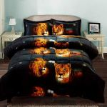3 Piece 3d Comforter Set 3d Male And Female Lions Printed Comforter Set Queen Size Y15 Box Stitched Soft Breathable Hypoallergenic Fade Resistant 1pc 3d Print Queen Comforter 2pcs 3d