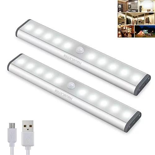 hauslichts under cabinet lighting 10 led motion sensor closet lights wireless led kitchen cabinet lights night light led battery lights motion led