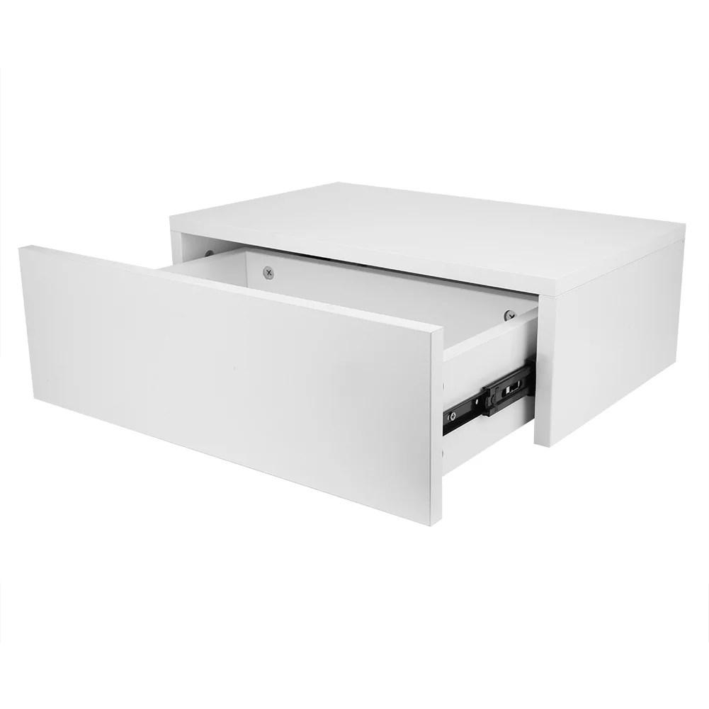 table de chevet flottante murale moderne khall avec etagere de table de chevet avec tiroir blanc etagere de table flottante