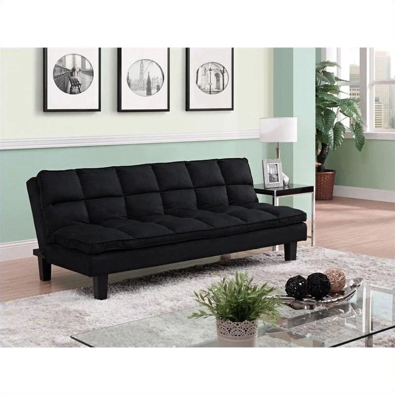 allegra pillow top futon black
