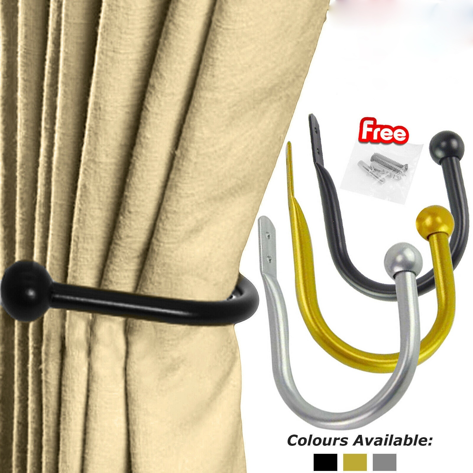 u shaped round curtain hooks window wall decoration hanger home suppliers walmart com