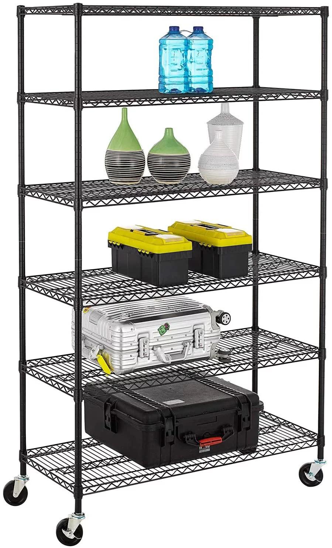bestoffice 18 w x 48 d x 78 h 6 shelf unit black