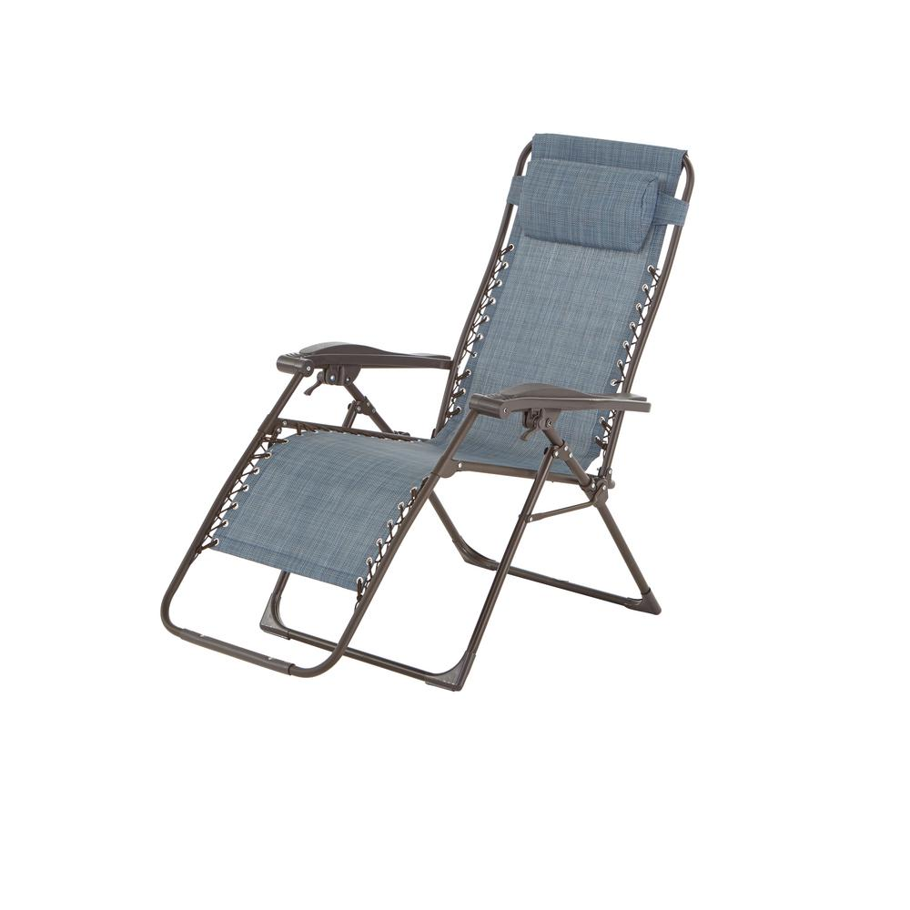 hampton bay charles 20 lb mix and match zero gravity sling outdoor chaise lounge