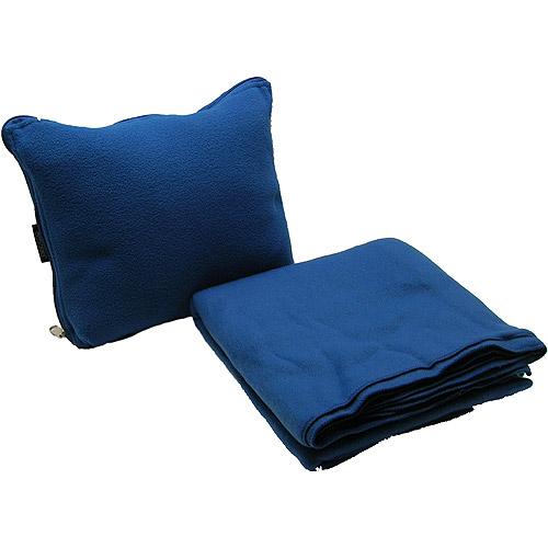 protege pillow and blanket travel comfort set blue