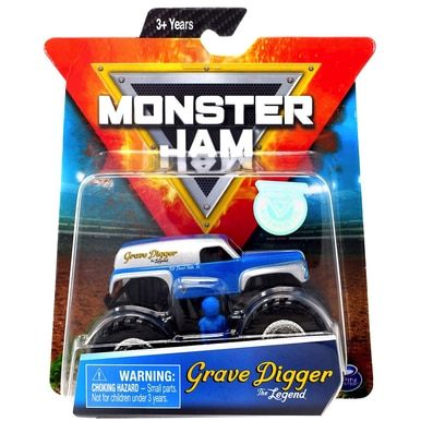 grave digger the legend monster jam truck with figure poster 1 64 scale