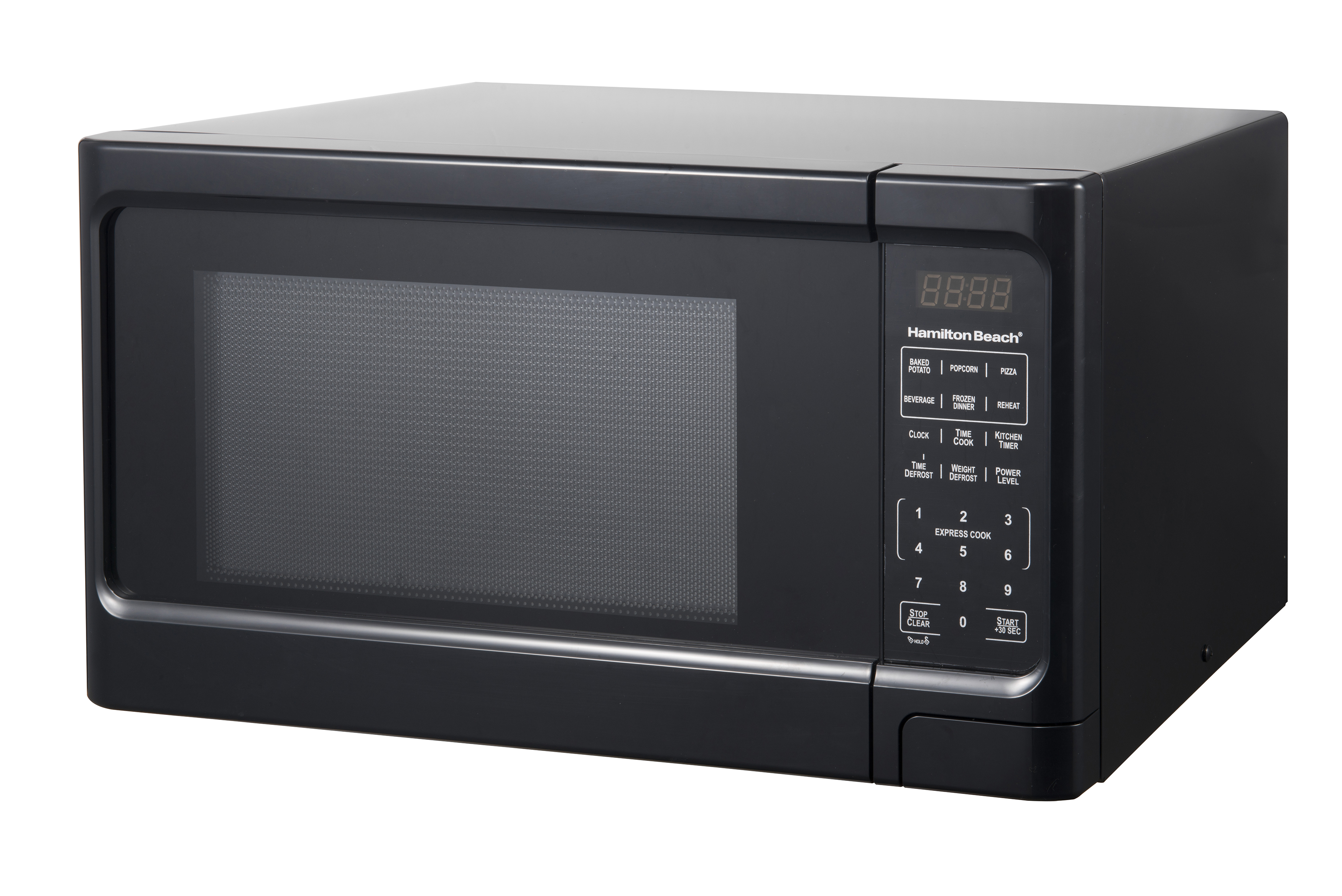 hamilton beach 1 1 cu ft black digital microwave oven walmart com