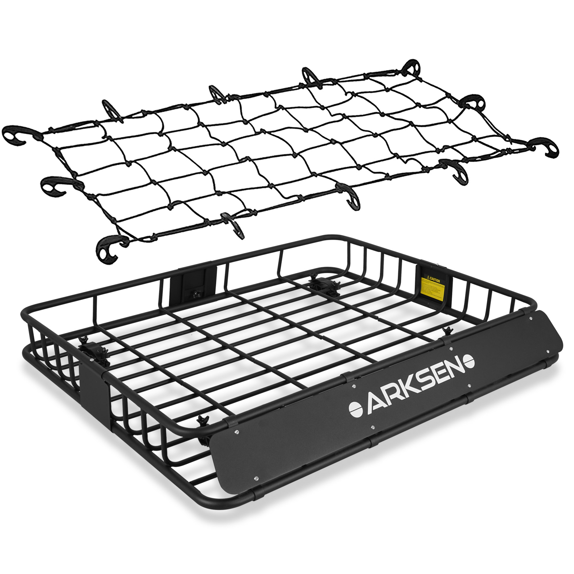 arksen perfect wide roof rack cargo basket 150 lb capacity full size truck suv top luggage holder carrier storage black