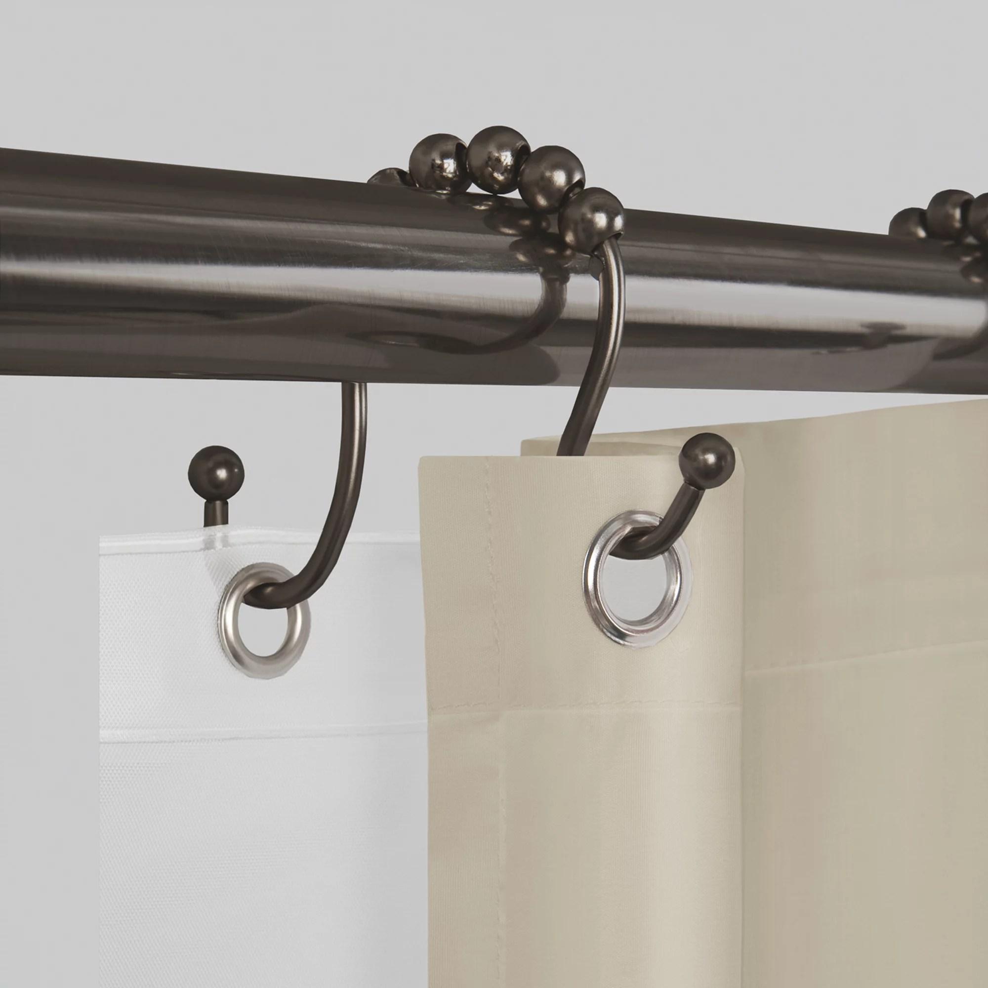 better homes and gardens never rust open glide shower curtain hooks rings