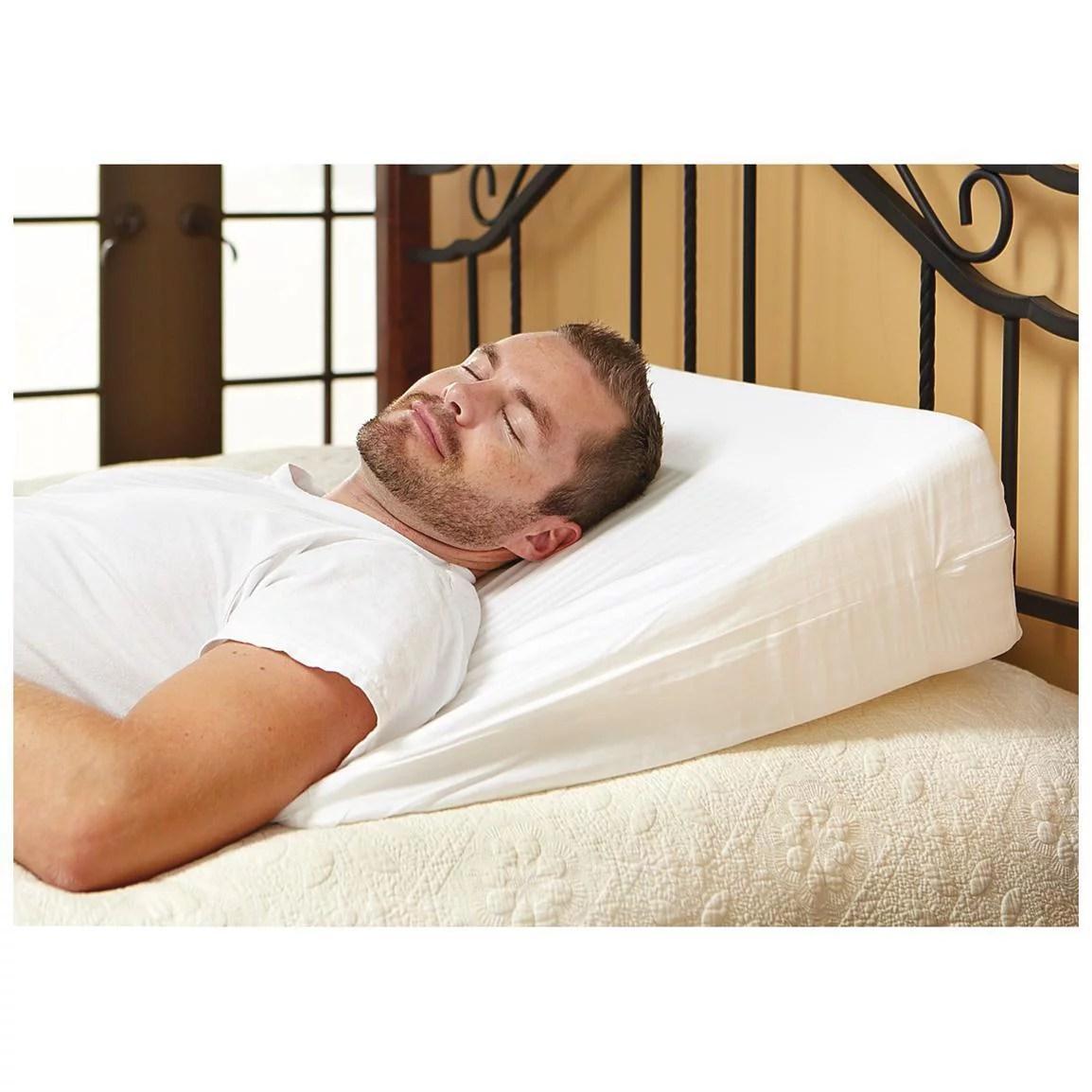 luxury foam wedge pillow support sleep pillow acid reflux wedge pillow