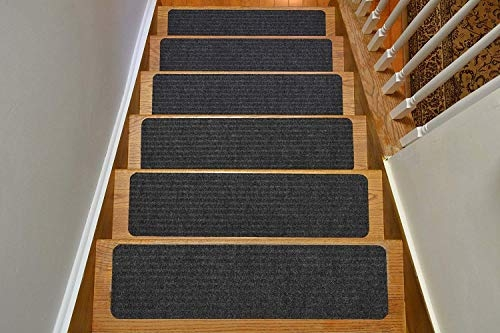 Stair Treads Collection Indoor Skid Slip Resistant Carpet Stair   Walmart Outdoor Stair Treads   Rubber Stair   Rubber Backed   Walmart Com   Step Mats   Anti Slip