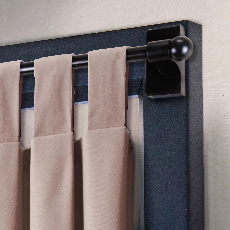 magnetic curtain rod 17 30 black
