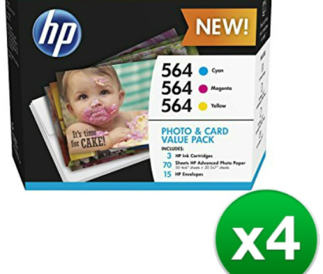 Hp 564 Multicolor Photo And Card Value Pack 3 Cartridges J2x80an4