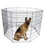 Topcobe Pet Fences For Dogs Black Folding Pet Fence 8 Panel Metal Play Pen 42 Tall Wire Fence Pet Dog Cat Fences For Backyard Walmart Com Walmart Com