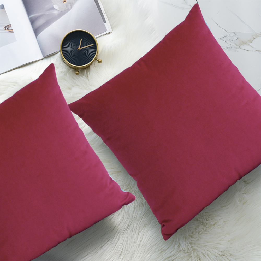 sofa pillowcase throw pillows covers 2 pack segmart premium velvet square decorative pillows cushion cases pillowcases for couch home decoration