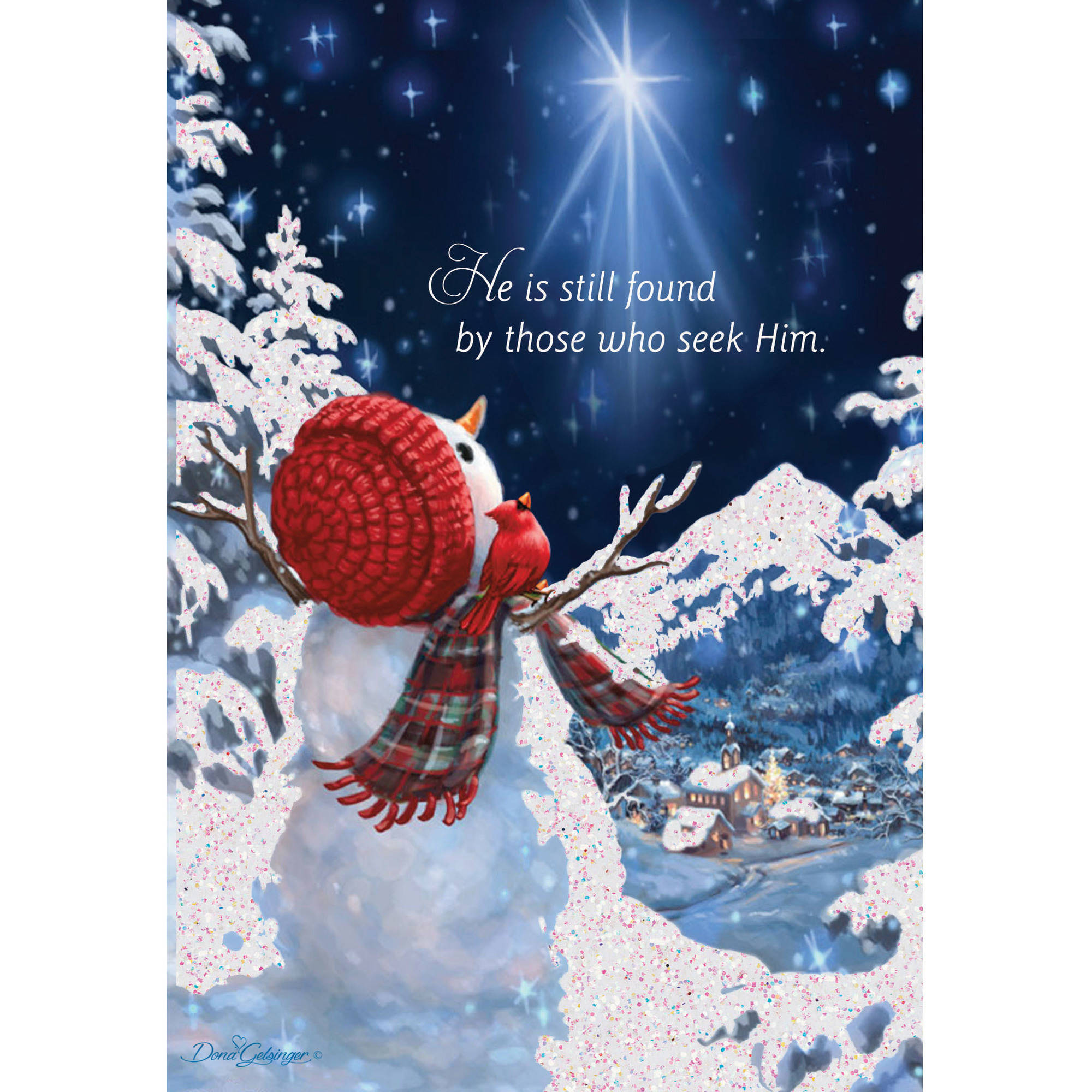 DaySpring Inspirational Boxed Christmas Cards Snowman