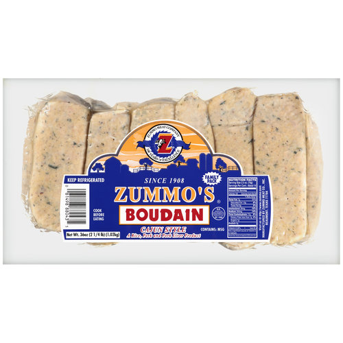 Zummo Meat Co Cajun Style Boudain 36 Oz