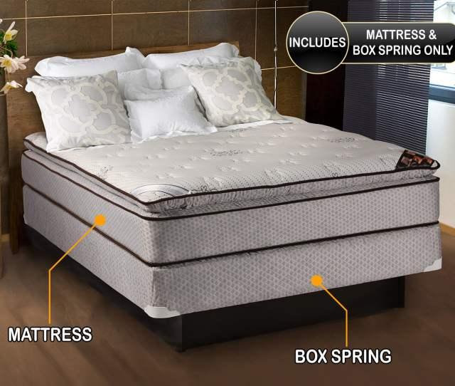 Spinal Comfort Pillowtop Full Size Mattress Box Spring Set Walmart Com
