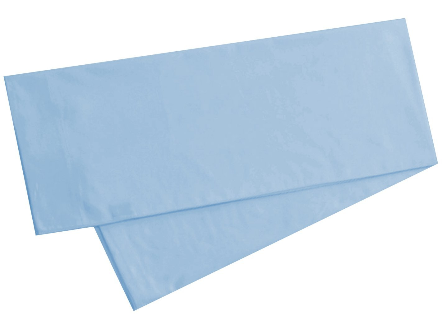 egyptian cotton 300 thread count body pillow cover 21 x 60 inch light blue