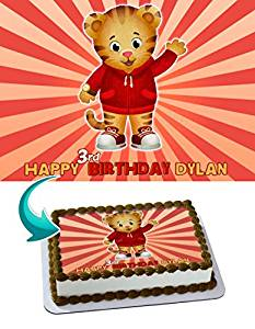 Daniel Tiger Edible Image Cake Topper Personalized Icing Sugar Paper A4 Sheet Edible Frosting Photo Cake 1 4 Edible Image For Cake Walmart Com Walmart Com