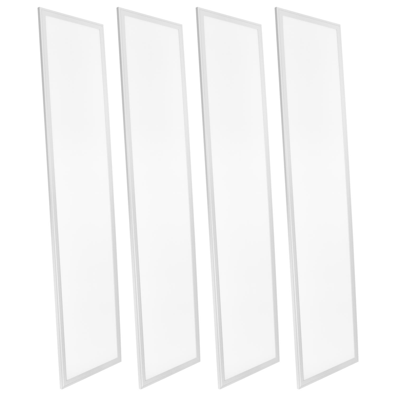 4 Pack 1x4 Ft Led Panel Light Luxrite 45w K