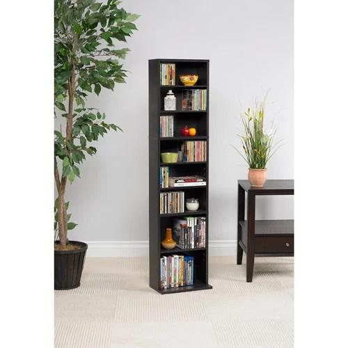atlantic 54 x13 summit adjustable wood media storage shelf bookcase 114 dvds 261 cds espresso