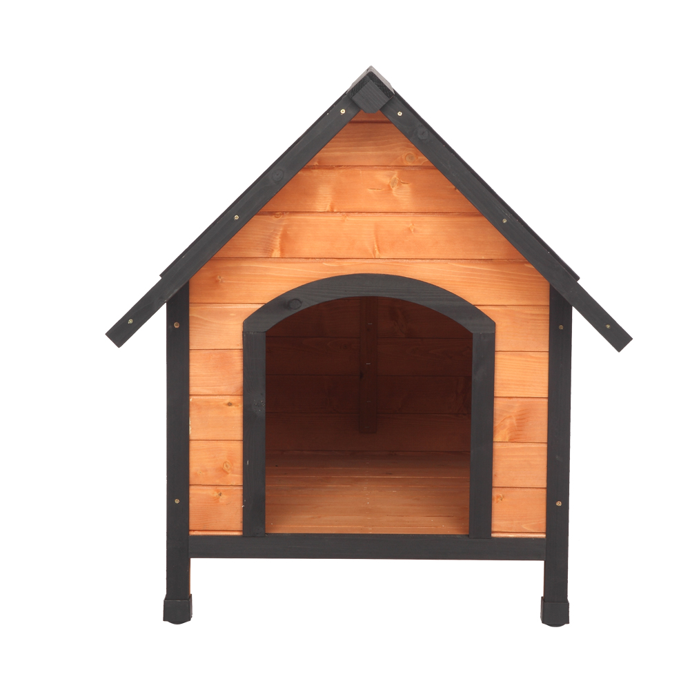 patio dog houses nicepet outdoor dog house with door water resistant dog house for small to large sized dogs easy to assemble perfect for