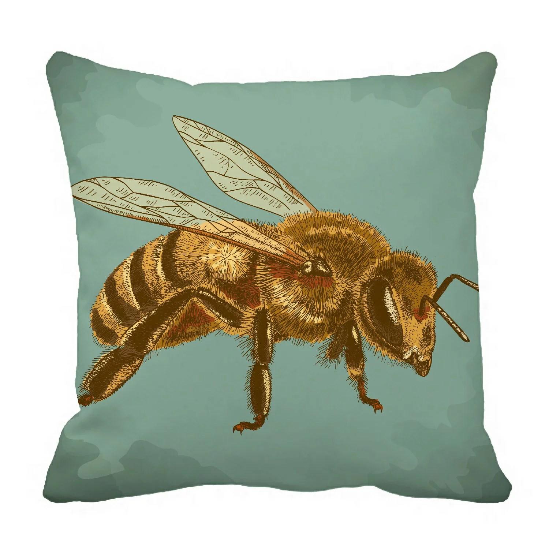 eczjnt engraving antique honey bee retro style pillow case pillow cover cushion cover 16x16 inch walmart com