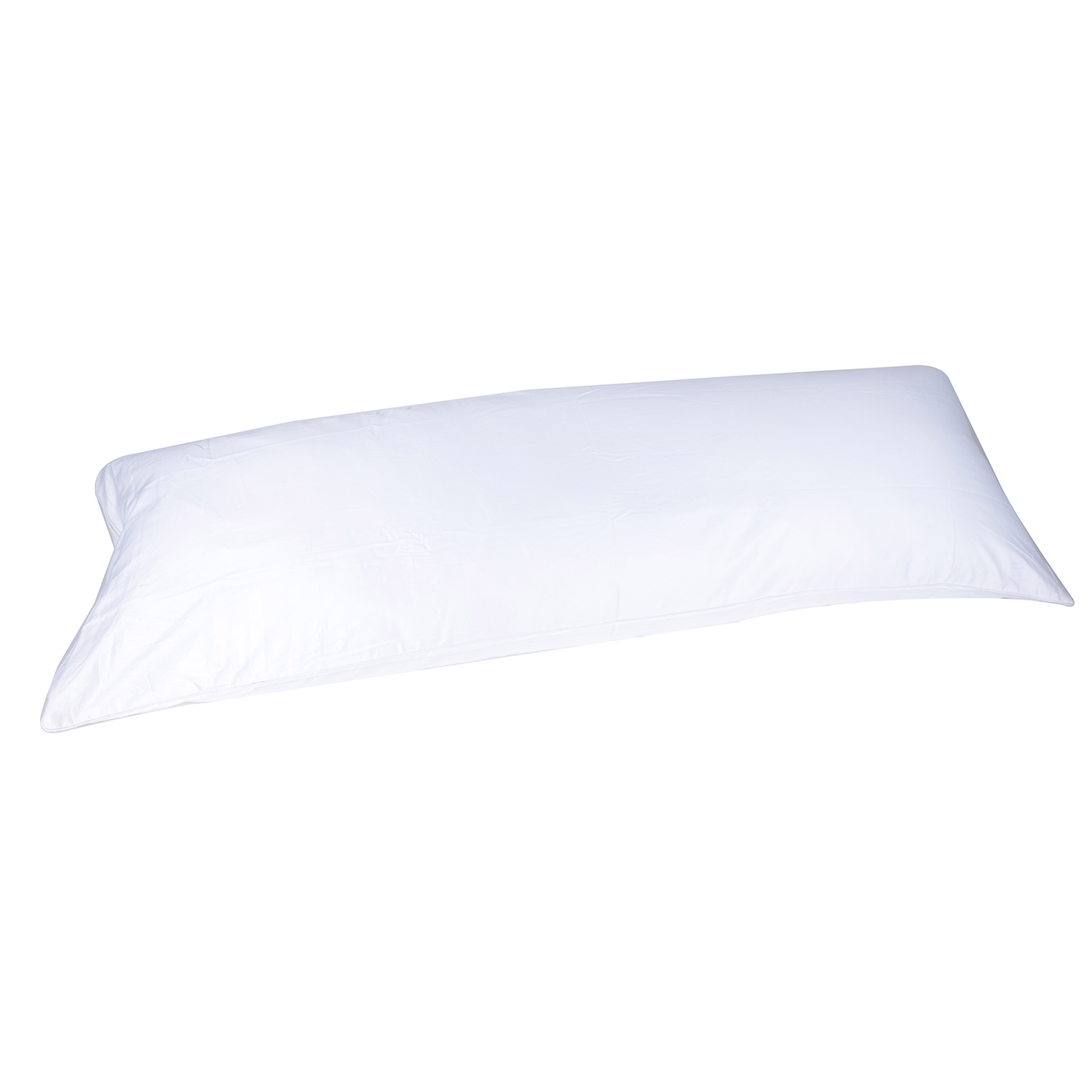 400 thread count cotton 20 x60 body pillow cover pillowcase double sided zipper white color 5 feet long