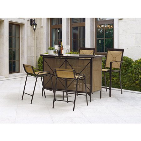 mainstays palmerton landing bar height patio dining set