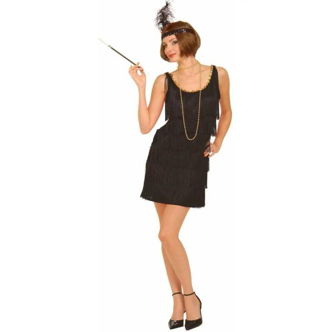Fashion Flapper Women's Adult Halloween Costume, Black