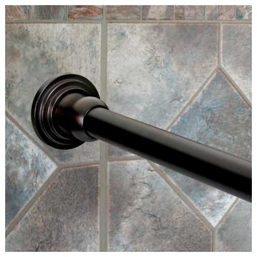 dynasty hardware 72 straight fixed shower curtain rod