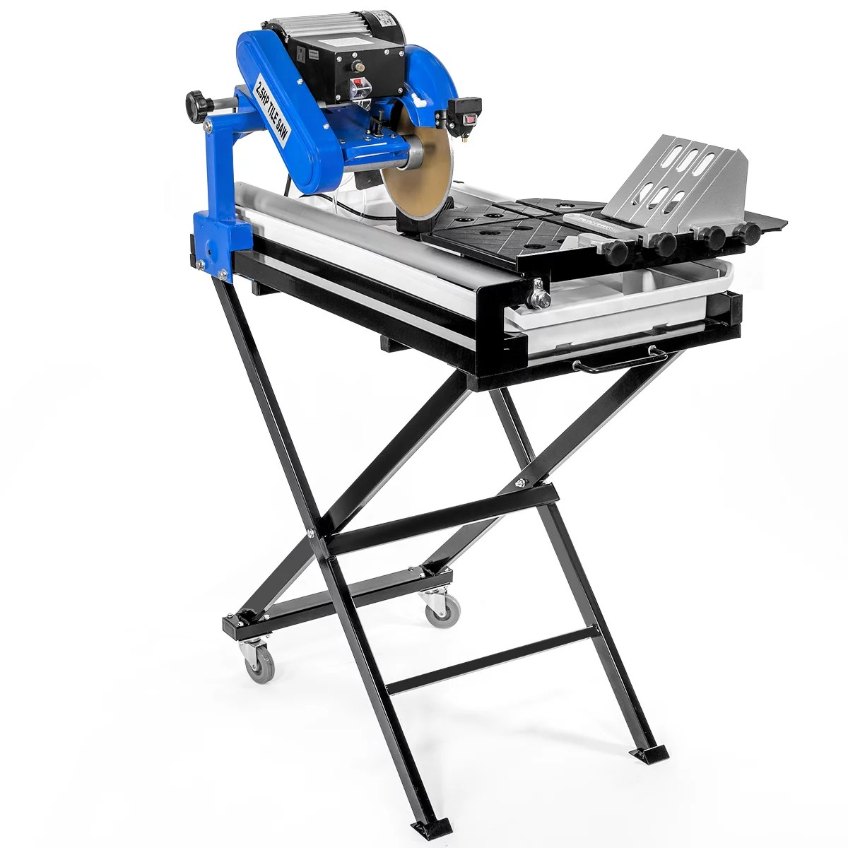 stark 27 inch wet tile saw cut build in bean light guide water pump w tray foldable stands 2 5hp motor
