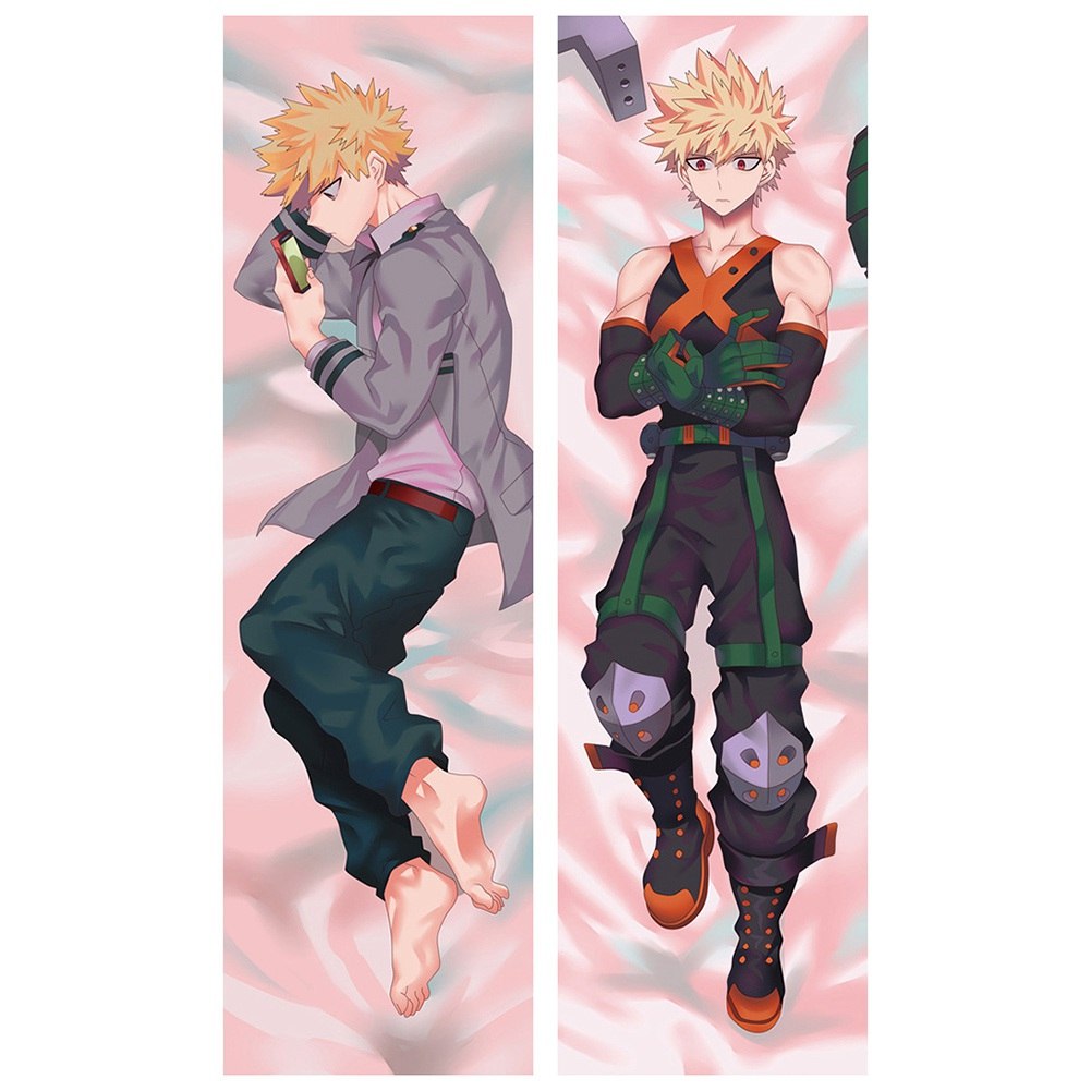 riapawel anime my hero academia body pillowcase peach skin double sided throw pillow case cushion cover