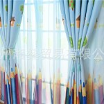 Ustyle Colorful Pencil Printed Voile Door Window Blinds Blackout Curtains Bedroom Kitchen Window Drapes Walmart Canada