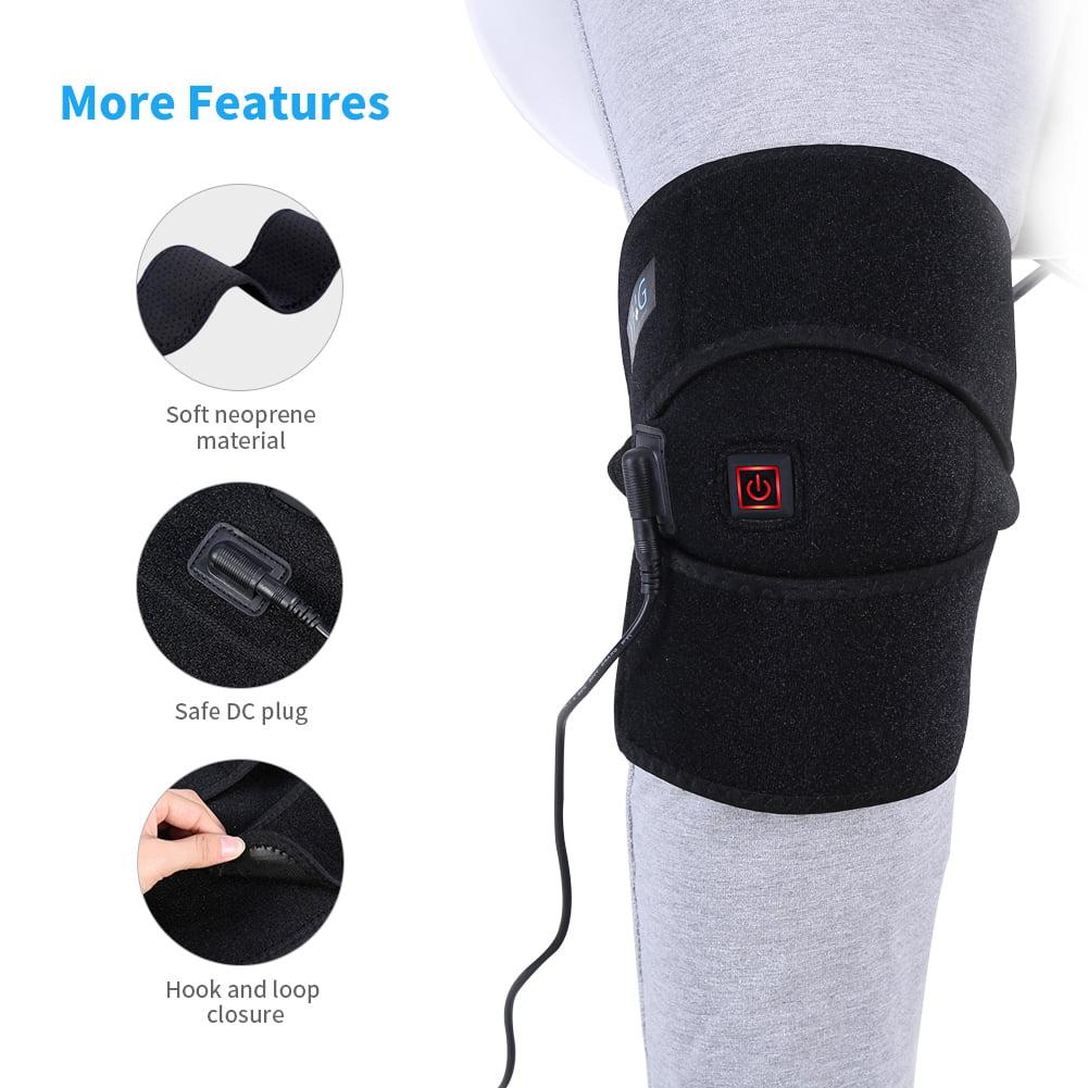 walfront heated knee brace wrap knee heating pad for knee injury cramps arthritis recovery knee heat wrap knee heating pad