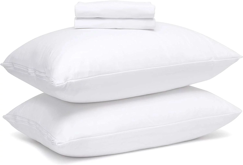 guardmax bed bug waterproof pillow protector zippered 2 pack standard walmart com