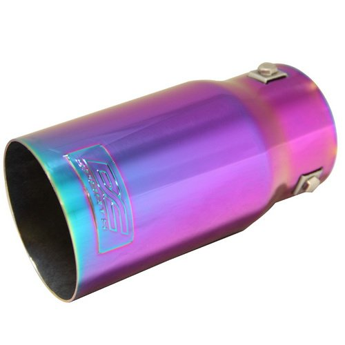 dodge exhaust tip chameleon anodized stainless steel chevy ford exhaust tips
