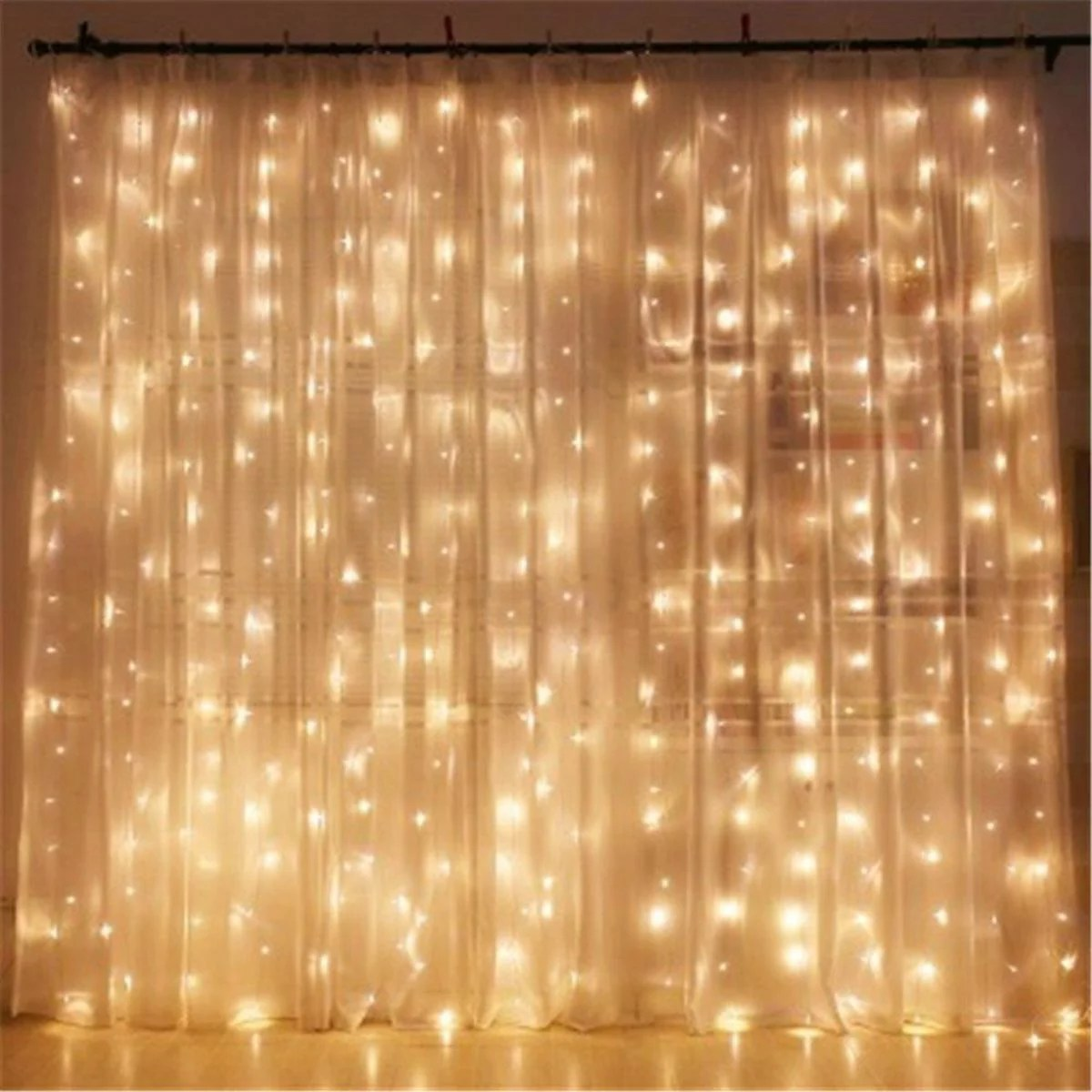 300 led window curtain fairy lights usb string hanging wall lights with remote for home garden bedroom wedding outdoor indoor decoration 3m x 3m