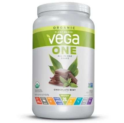 vega one organic vegan protein powder chocolate mint 20g protein 1 6 lb