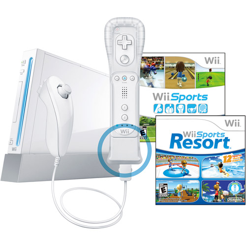 Nintendo Wii Hardware White W Wii Sports Resort