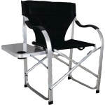 Details About Ming S Mark Black Heavy Duty Side Table Folding Director Chair Aluminum Frame