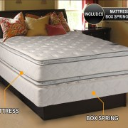 Dream Solutions Usa Brand Soft Pillowtop Mattress And Low Height Box Spring Set Twin Size