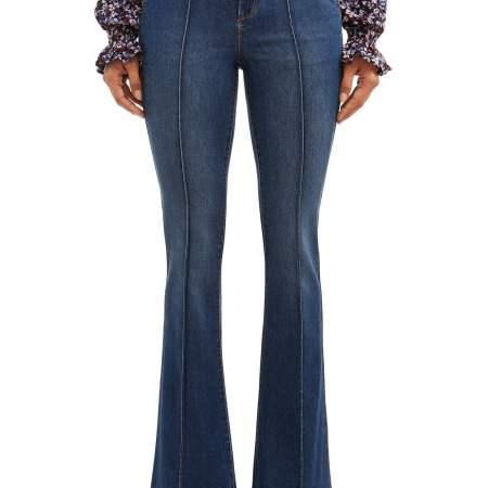 Sofia Jeans Carmen Flare Pintuck High Waist Trouser Women's