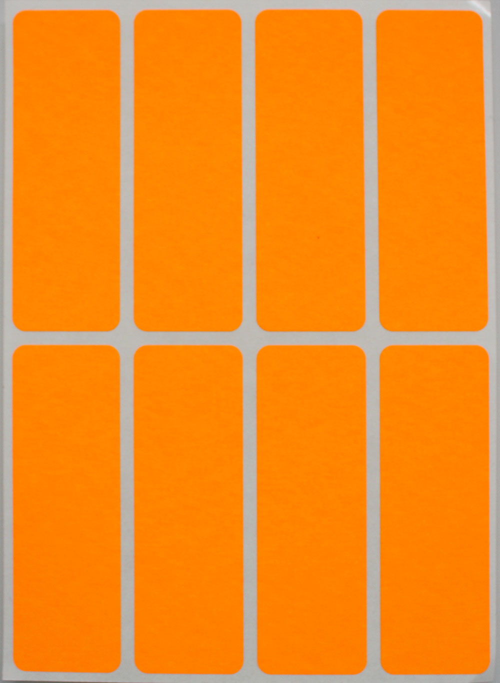 Rectangular Color Coding Labels 3 X 1 Inches Rectangle Label In Neon Orange Name Tags For Kids 40 Pack By Royal Green