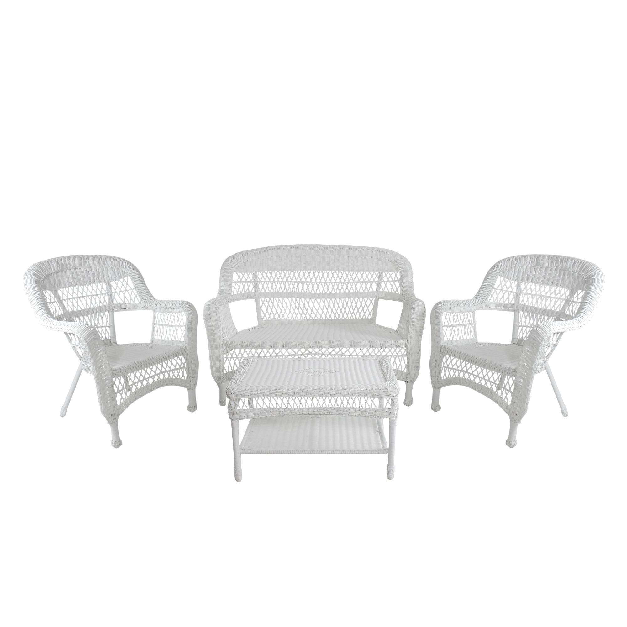 4 piece white steel resin wicker outdoor patio furniture set 51