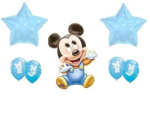 Baby Mickey Mouse It S A Boy Baby Shower Balloons 1st Birthday Decoration Supplies Walmart Com Walmart Com